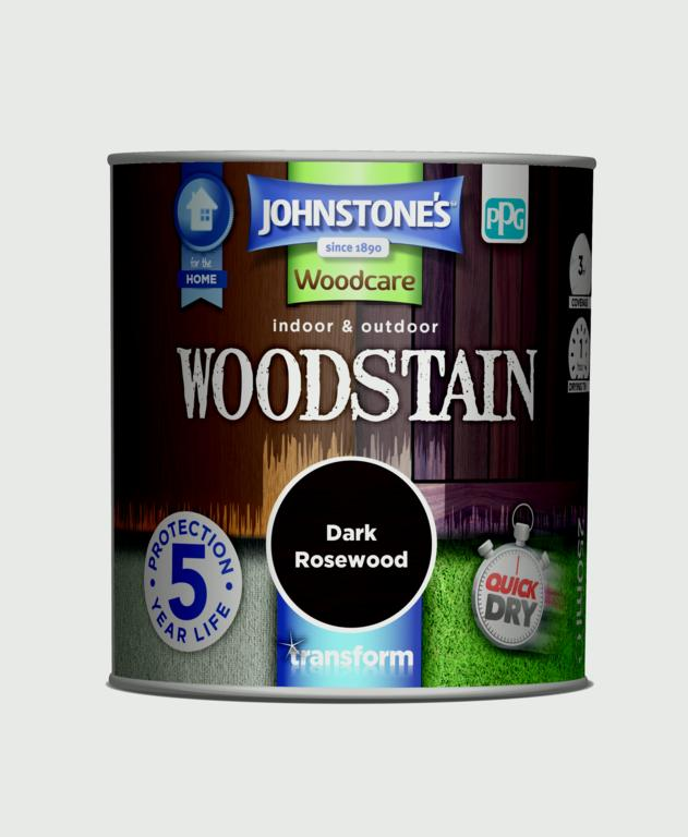Johnstone's Indoor & Outdoor Woodstain 250ml - Dark Rosewood