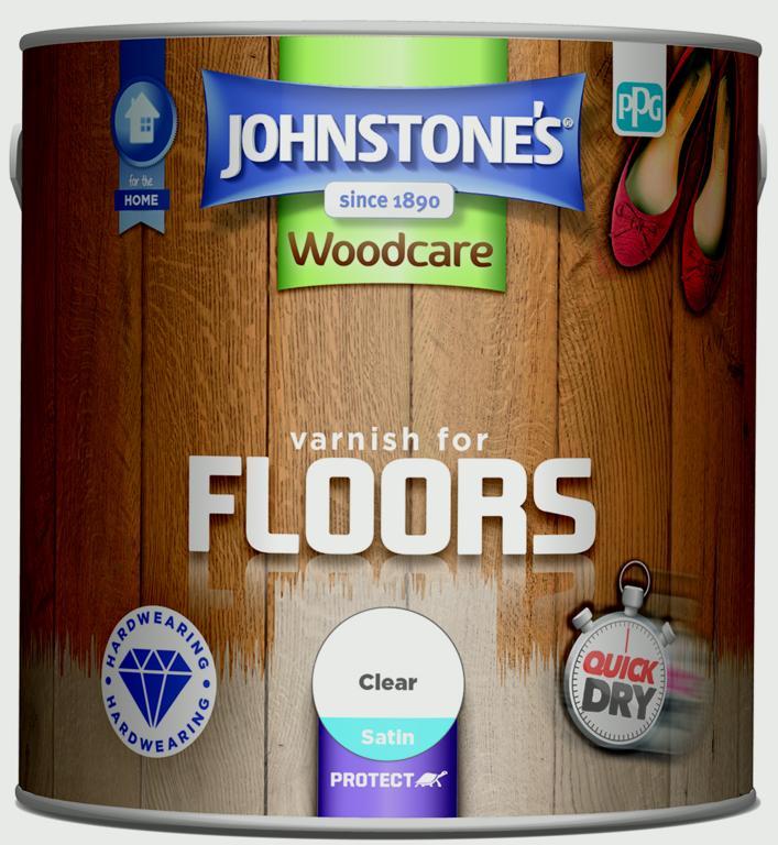 Johnstone's Varnish For Floors Satin 2.5L - Clear