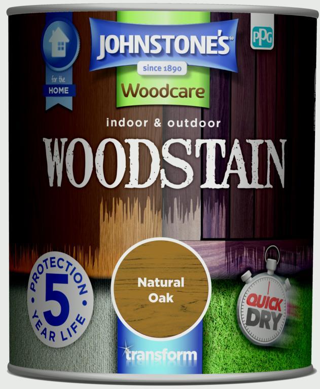 Johnstone's Indoor & Outdoor Woodstain 750ml - Natural Oak