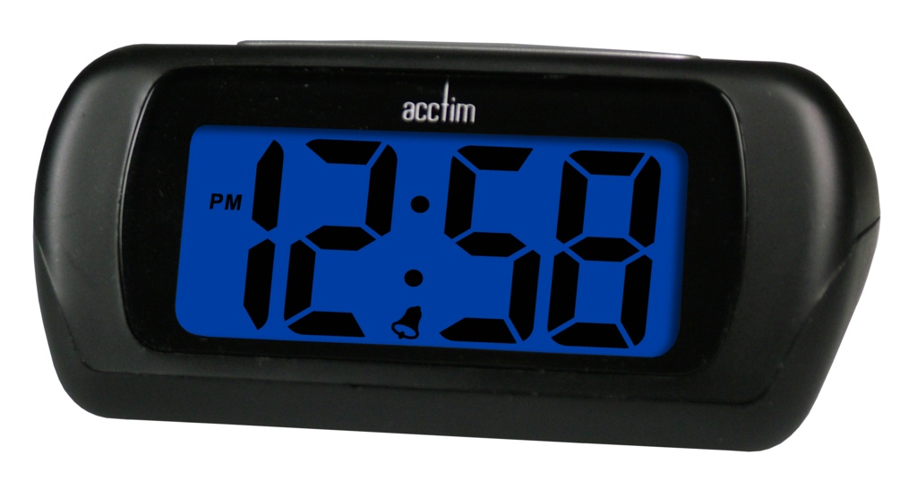 Acctim Auric LCD Clock - Black
