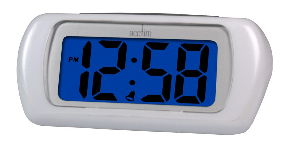 Acctim Auric LCD Clock - White