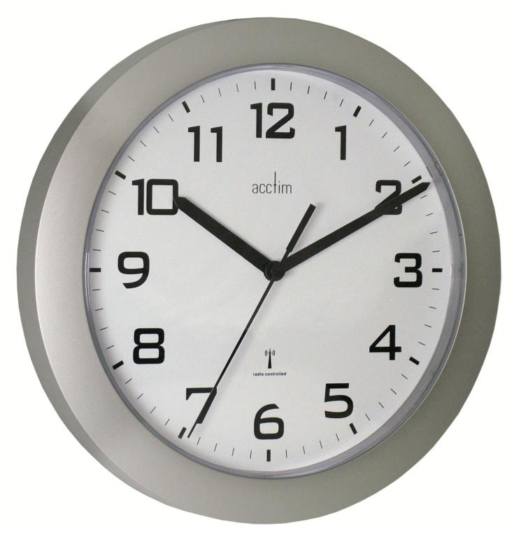 Acctim Peron Wall Clock Silver - Silver