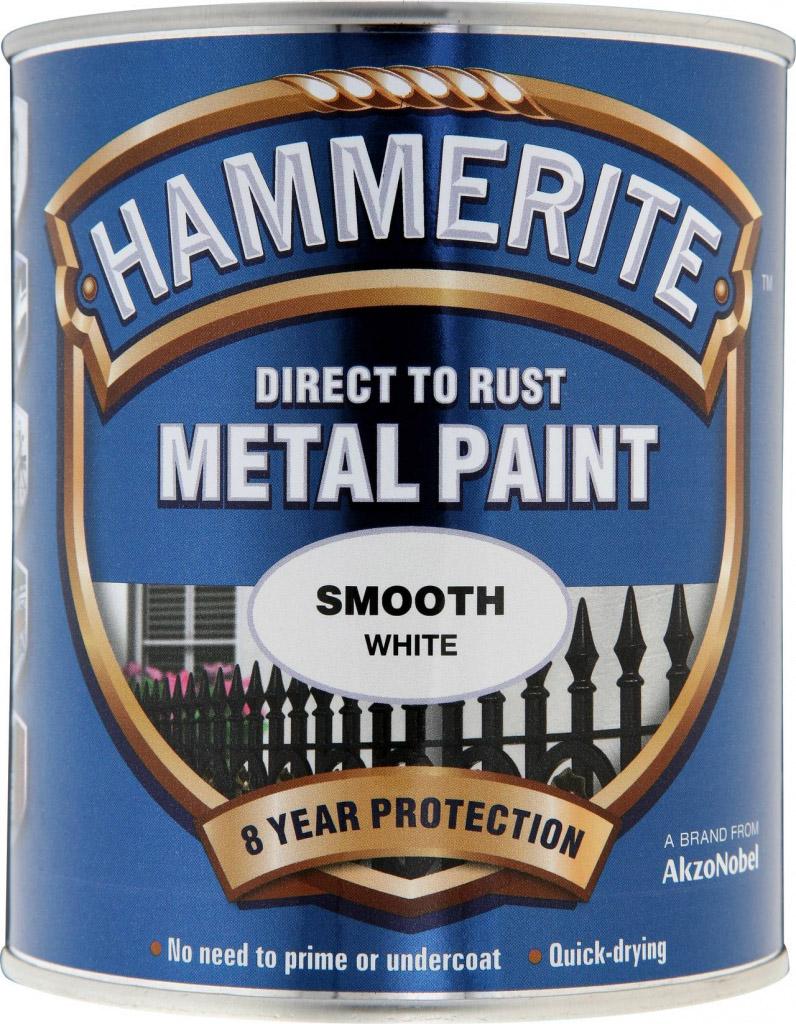 Hammerite Metal Paint Smooth 750ml - White