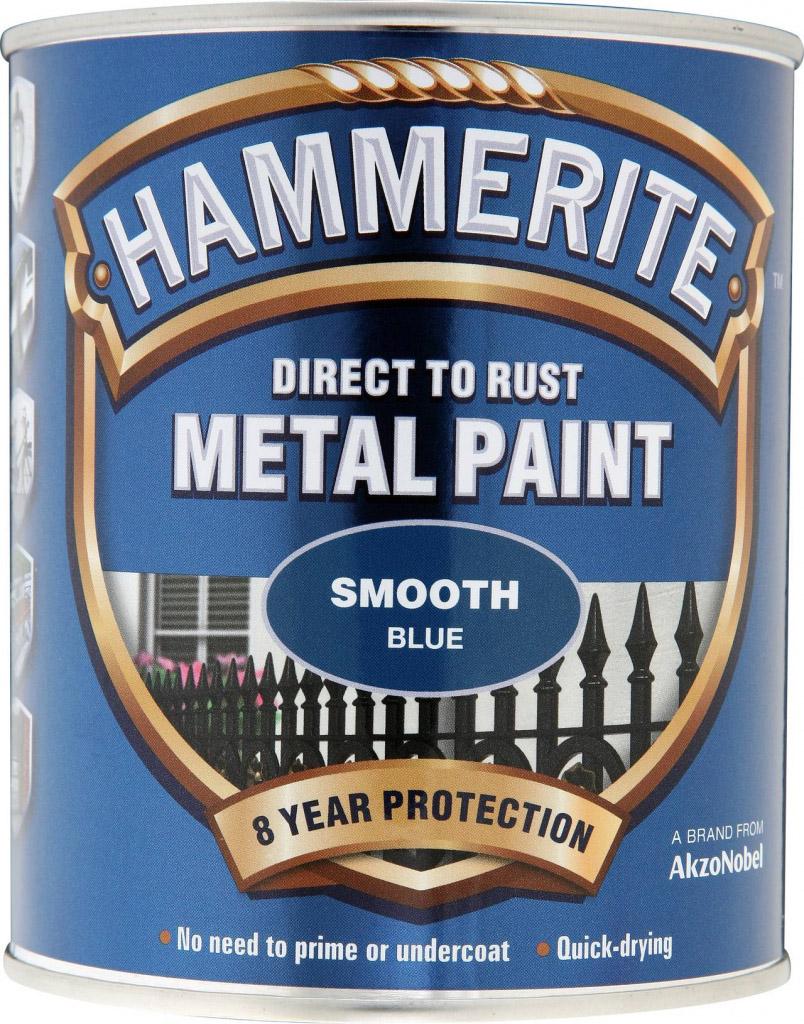 Hammerite Metal Paint Smooth 750ml - Blue