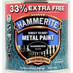 Hammerite Metal Paint Hammered 750ml + 33% Free