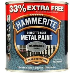Hammerite Metal Paint Hammered 750ml + 33% Free