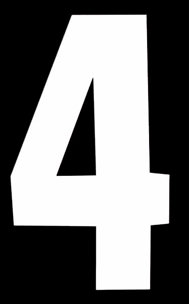 Classic Designs Wheelie Bin Number - No 4 Pack 2