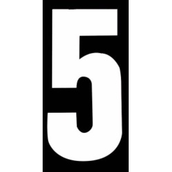 Classic Designs Wheelie Bin Number - No 5 Pack 2