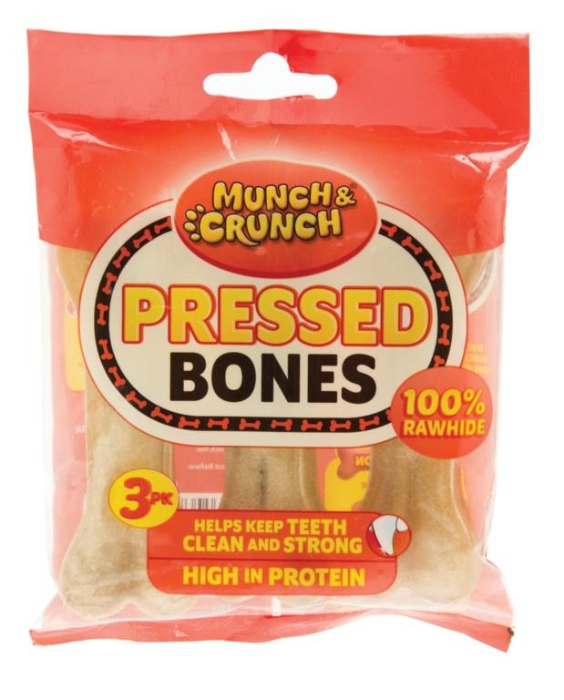 Munch & Crunch Pressed Bones - 3 Pack