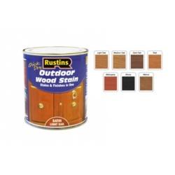Rustins Quick Dry Outdoor Woodstain 250ml - Satin Dark Oak