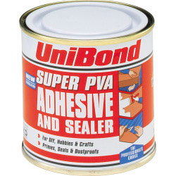 UniBond Super PVA Adhesive Sealer and Primer 250ml Tin