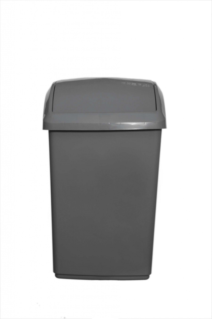 Whitefurze 10L Swing Lid Bin And Base - Black