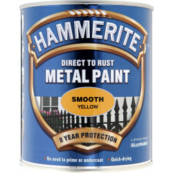 Hammerite Metal Paint Smooth 750ml Yellow