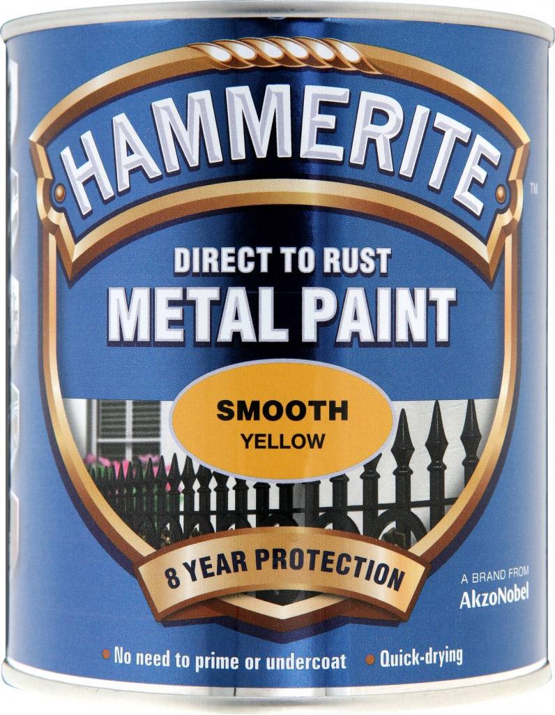 Hammerite Metal Paint Smooth 750ml - Yellow