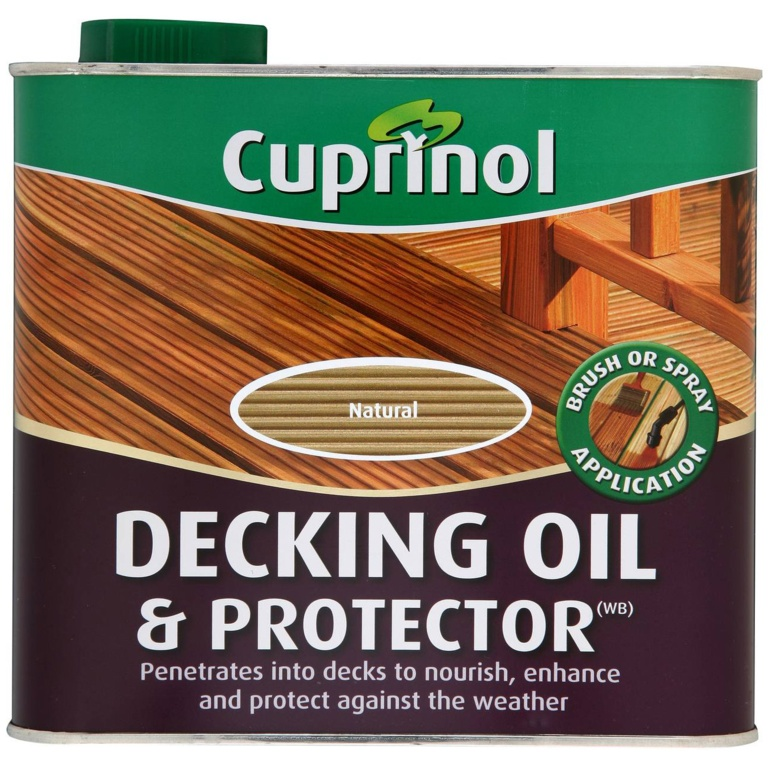 Cuprinol Decking Oil & Protector - 2.5L Natural