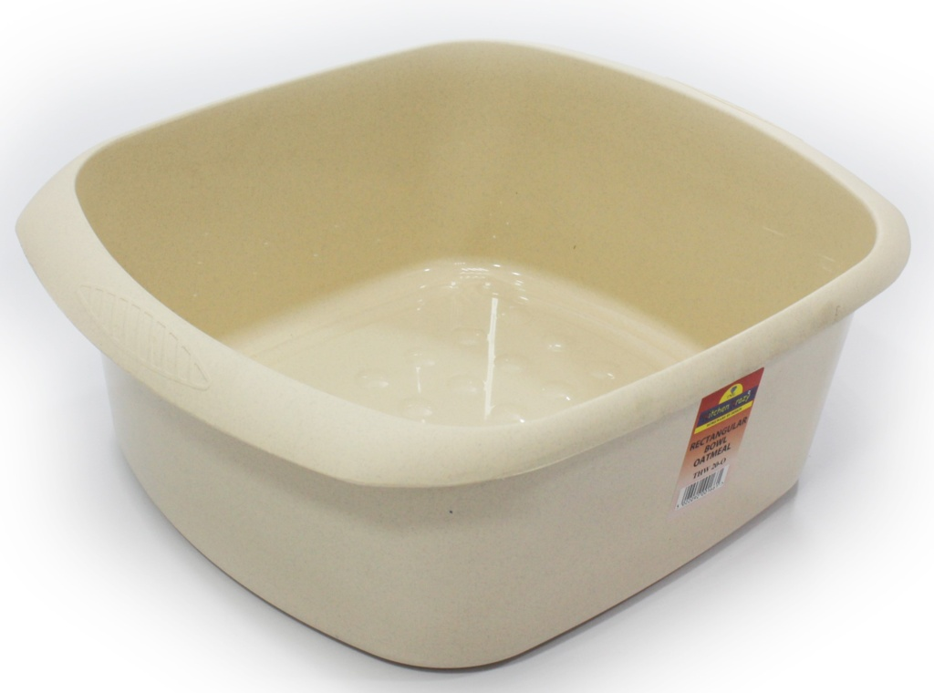 TML Rectangular Bowl - 11L Oatmeal