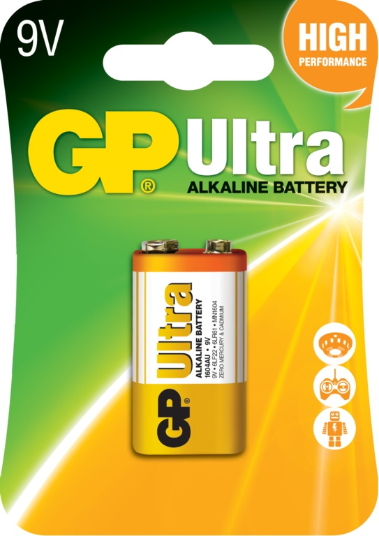 GP Ultra Alkaline Battery 9v