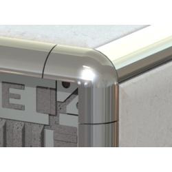 Tile Rite Metal Tile Edging Corner Silver - 8mm