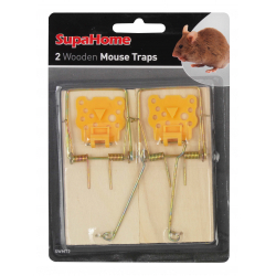 SupaHome Wooden Mouse Traps