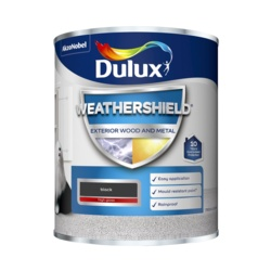 Dulux Weathershield Exterior Gloss 750ml Black