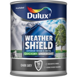 Dulux Weathershield Quick Dry Undercoat 750ml Dark Grey