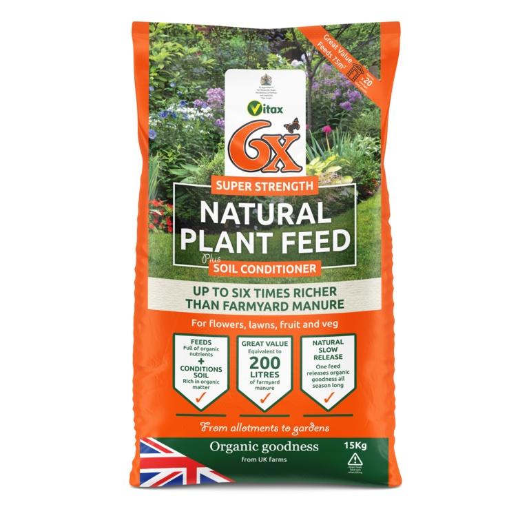 Organico 6x Organic Fibrous Fertiliser Bag - 15kg