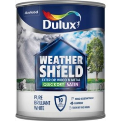 Dulux Weathershield Quick Dry Satin 750ml PBW