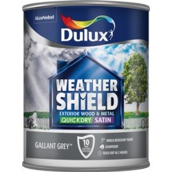 Dulux Weathershield Quick Dry Exterior Satin 750ml