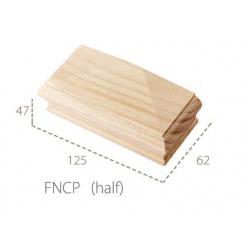 Cheshire Mouldings Flat Newel Cap - Half Pine