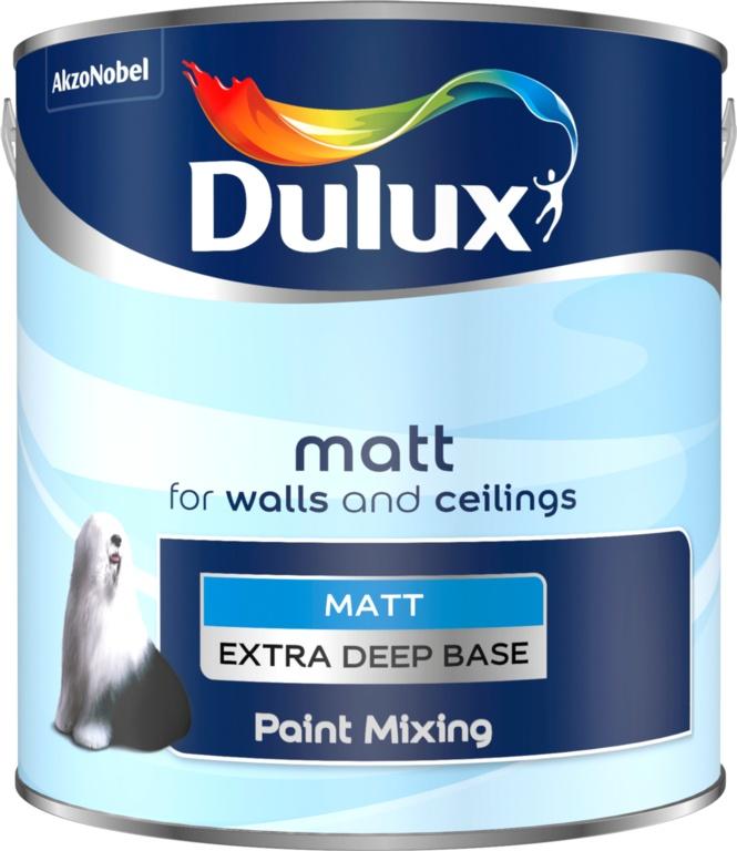 Dulux Colour Mixing 2.5L - Extra Deep Matt Base
