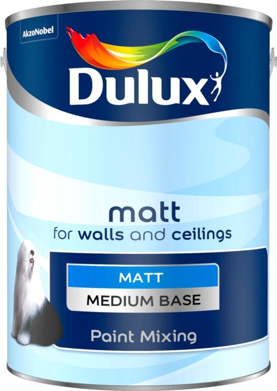 Dulux Colour Mixing 5L - Medium Matt Base