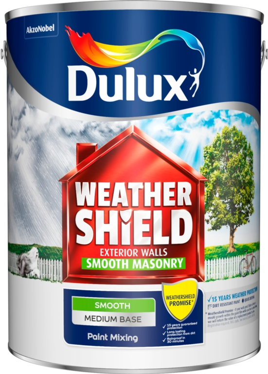 Dulux Colour Mixing Weathershield 5L - Medium Smooth Base