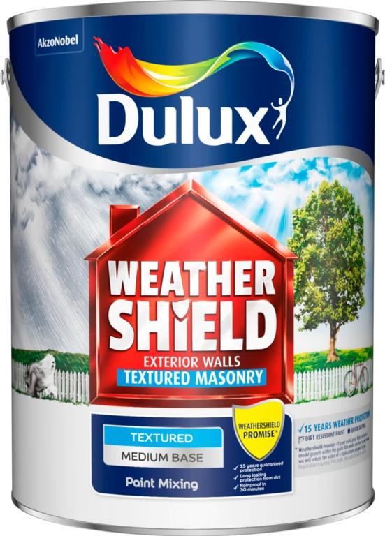 Dulux Colour Mixing Weathershield 5L - Medium Textured Base