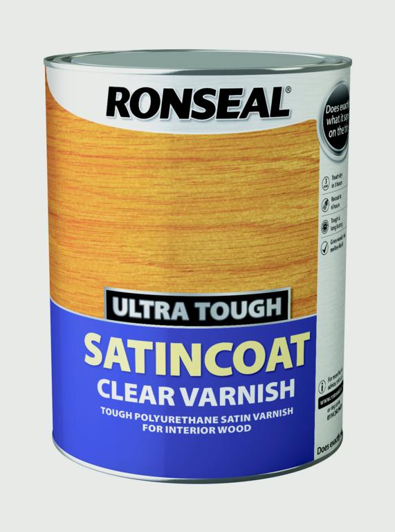 Ronseal Ultra Tough Varnish Satin Coat - 5L
