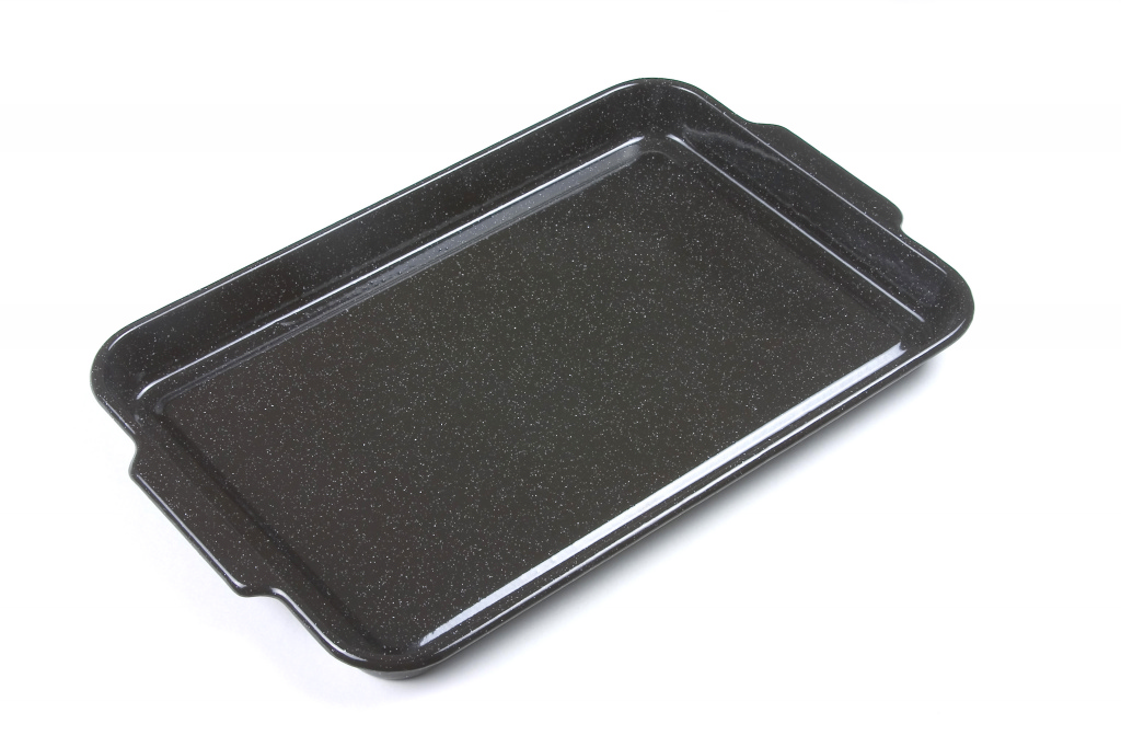 Falcon Falcon Enamel Black Rectangular Baking Tray - 38cm