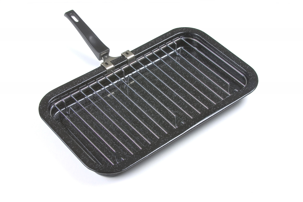 Falcon Black Enamel Grill Pan - 40cm x 23cm x 4cm