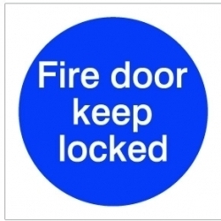 House Nameplate Co Fire Door Keep Lock - 10x10cm
