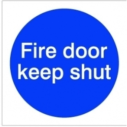 House Nameplate Co Fire Door Keep Shut - 10x10cm - Sticker