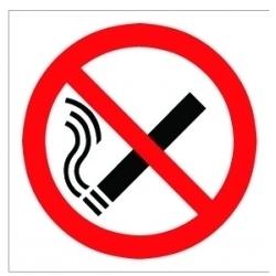 House Nameplate Co No Smoking Symbol - 10x10cm