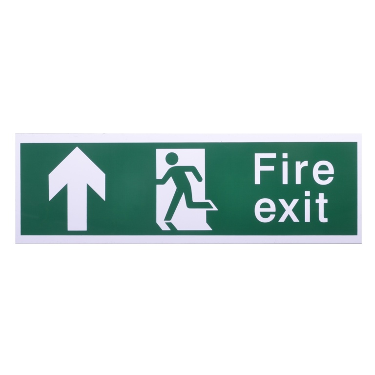 House Nameplate Co Fire Exit with Arrow Forward - Forward Arrow