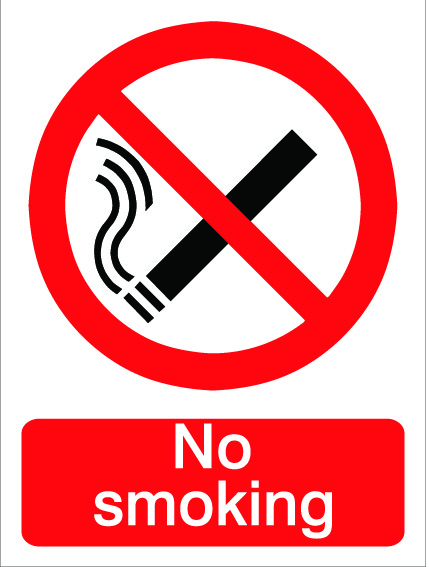 House Nameplate Co No Smoking Sign - 15x20cm
