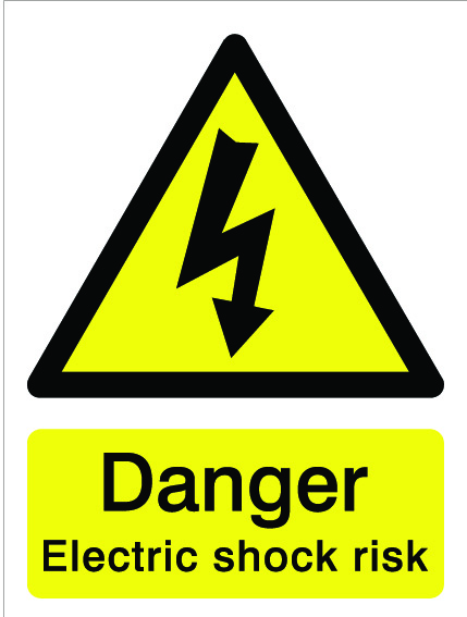 House Nameplate Co Danger Electric Shock Risk - 15x20cm