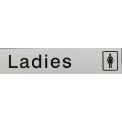 House Nameplate Co Metal Effect Ladies - 5x22.5cm