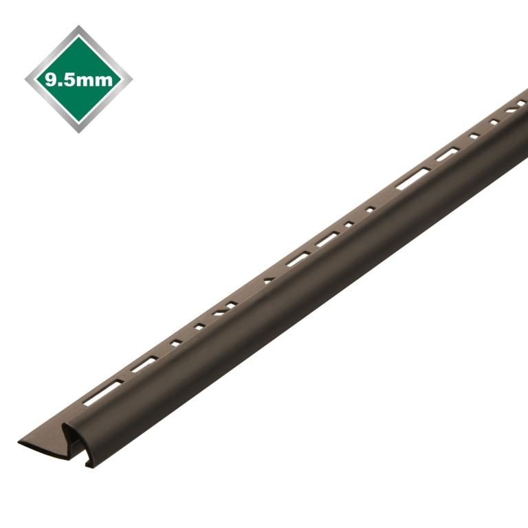 Tile Rite Profile + Tile Trim - 2.4m x 9.5mm Black