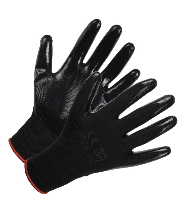 Glenwear Lightweight Nitrile Glove - 9-L 12 Pack