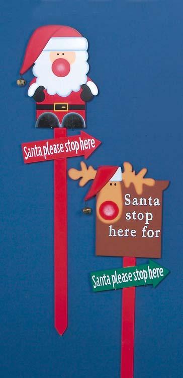 Premier Santa Stop Here Sign - 1M