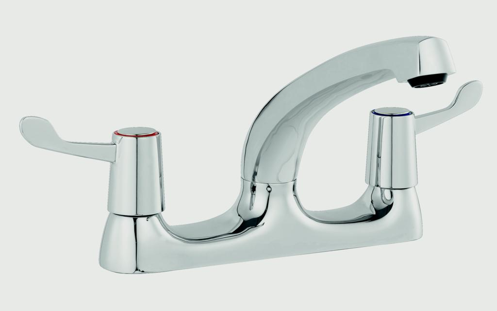SP Rhodes Deck Mixer Lever Sink Tap - H 167mm W 224mm D 213mm