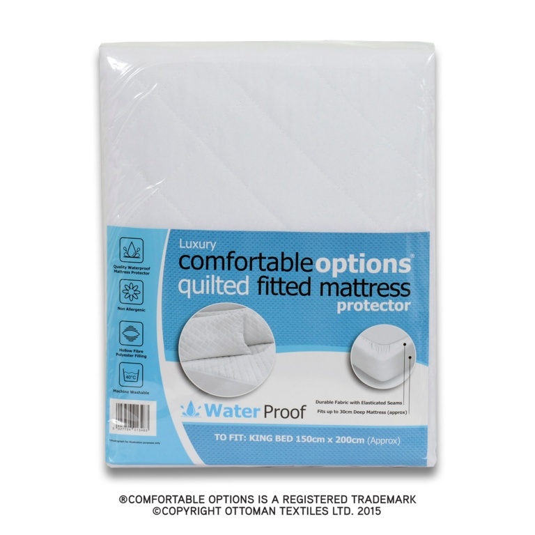 Comfortable Options Waterproof Mattress Protector Kb