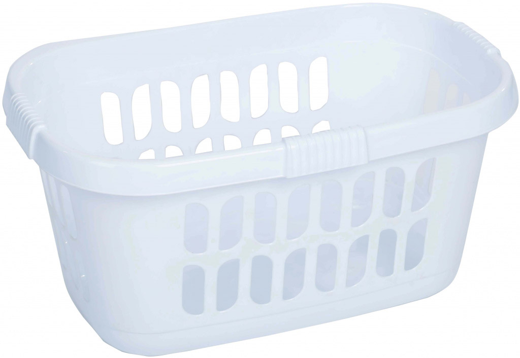Casa Hipster Laundry Basket - 59.00 x 39.00 x 30.50 cm Ice White