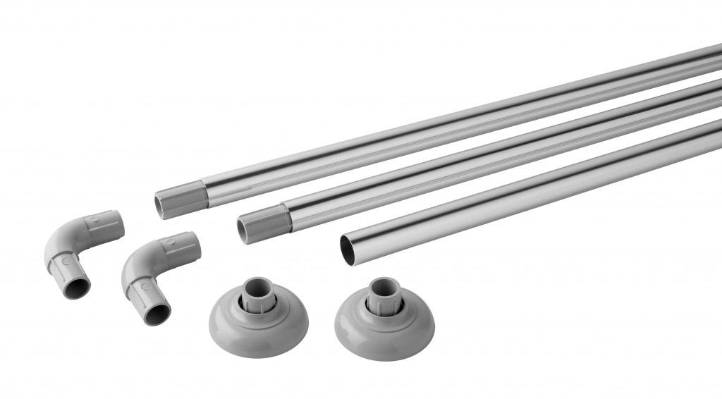 MX Luxury Modular Rail Polished Aluminium